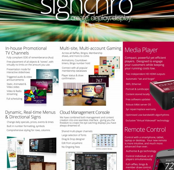 Signchro single page full colour flyer