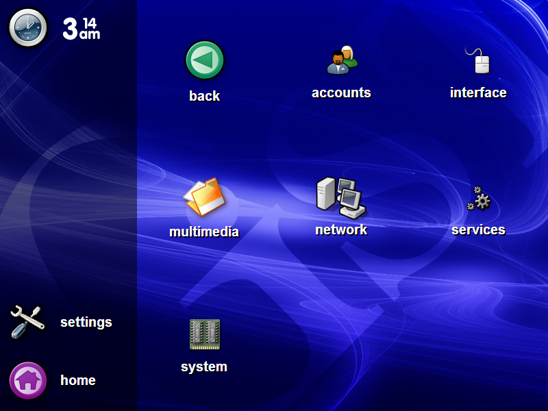 Screenshot of the early GiST Linux frontend.
