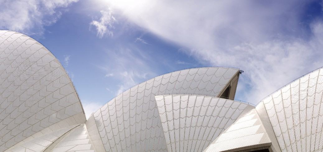 Panorama of the Opera House sails