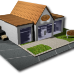 3d depiction of a retail store