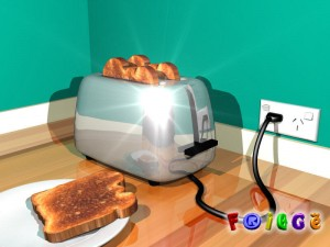 Early 3d chrome toaster concept