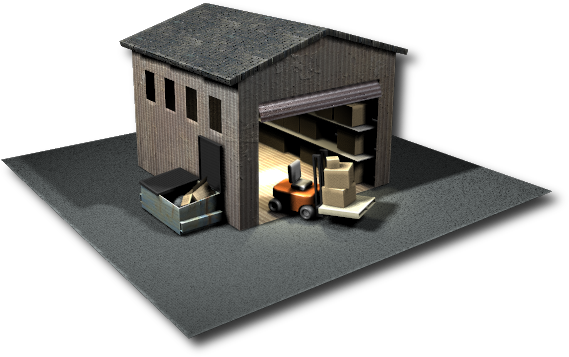 3d Warehouse with Forklift