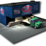 3d Distribution centre with truck