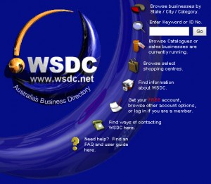 Screenshot of wsdc.net v3 homepage